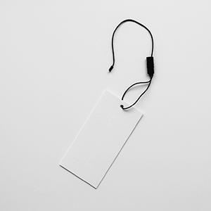 2A Label - attache fastener 1 noir et blanc carton