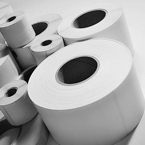 2A Label - rouleaux d'étiquettes vierges noir et blanc