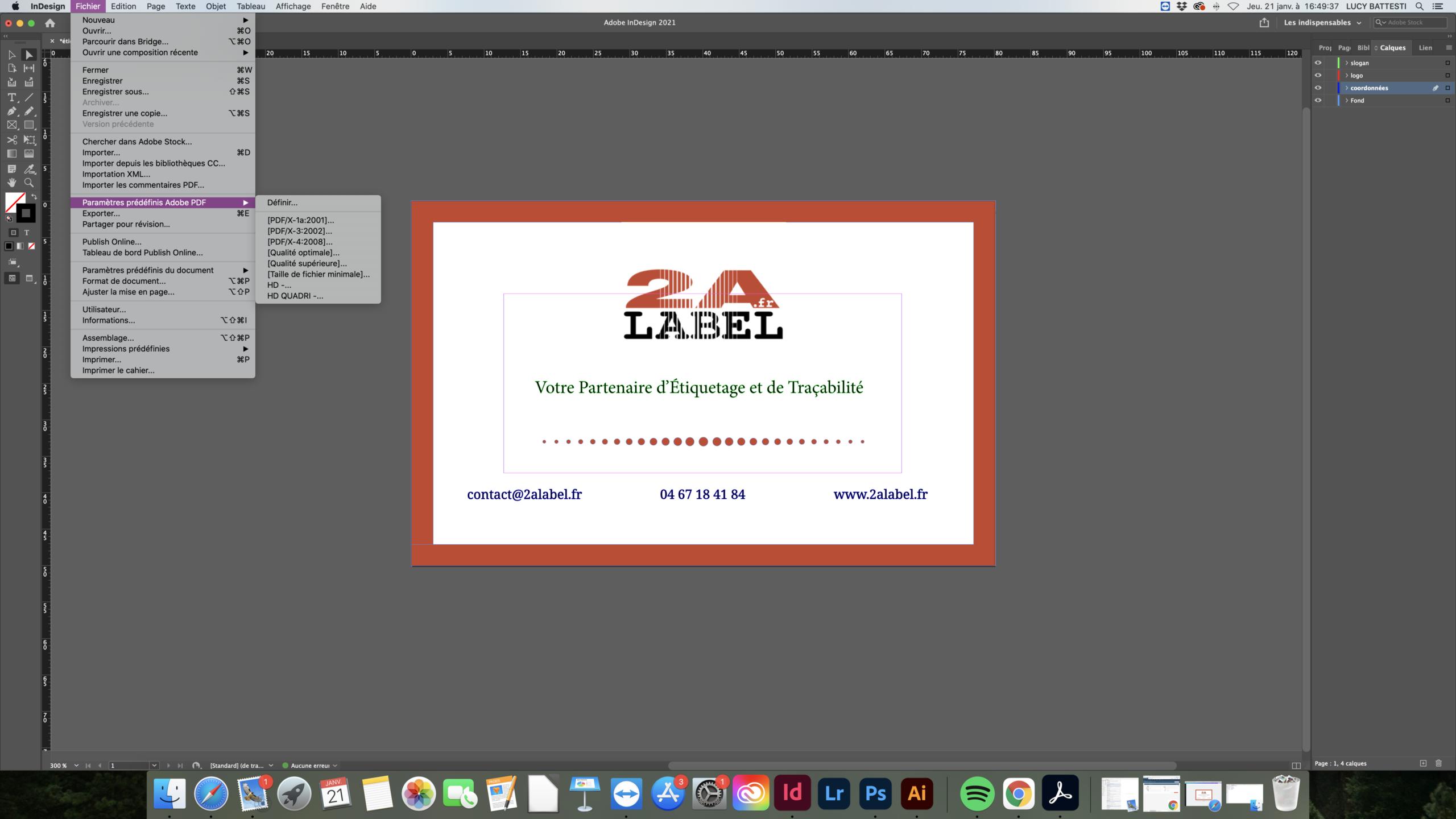 Indesign format PDF